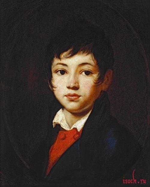 Картина О.А. Кипренского «Портрет мальчика Челищева»
