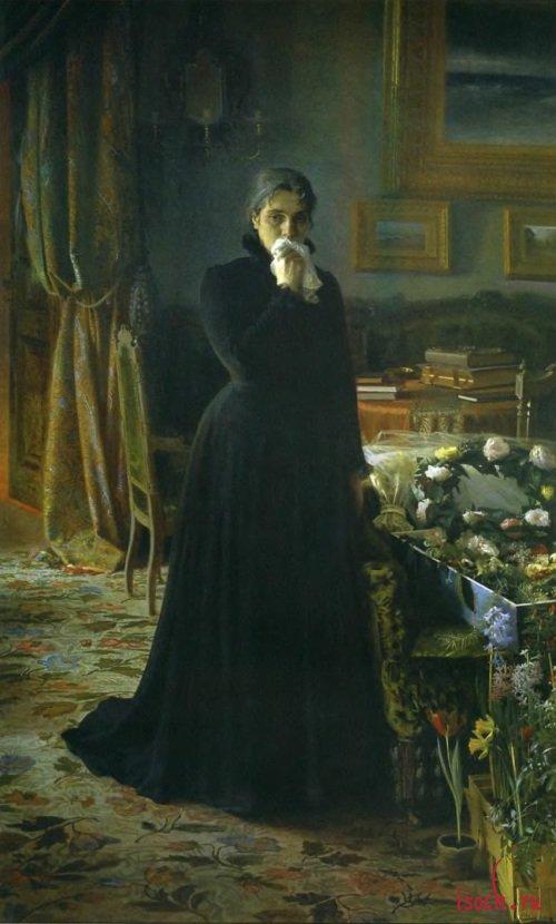Картина И.Н. Крамского «Неутешное горе»