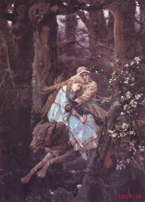 Картина В.М. Васнецова «Иван-царевич на Сером Волке»