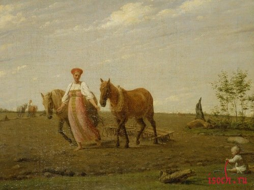 Картина А.Г. Венецианова «На пашне. Весна»