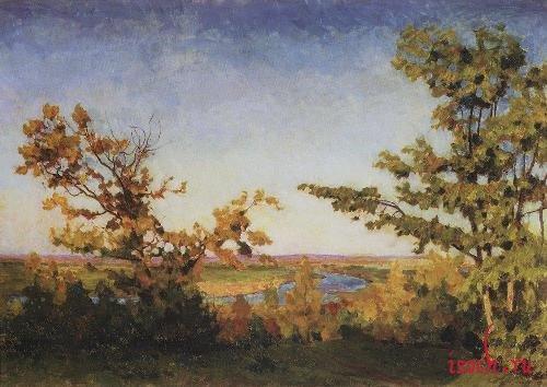 Картина И.Э. Грабаря «Ясный осенний вечер»