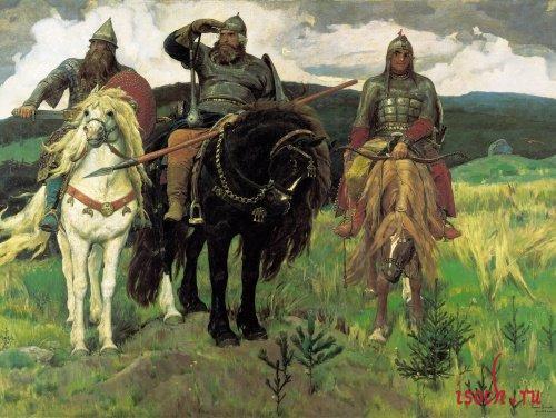 Картина В.М. Васнецова «Богатыри»