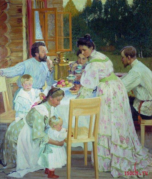 Картина Б.М. Кустодиева «На террасе»