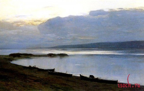 Картина И.И. Левитана «Вечер на Волге»
