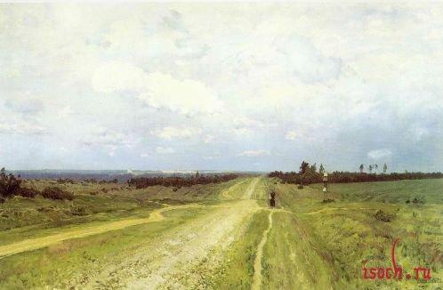 Картина И.И. Левитана «Владимирка»