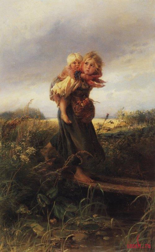 Картина К.Е. Маковского «Дети, бегущие от грозы»