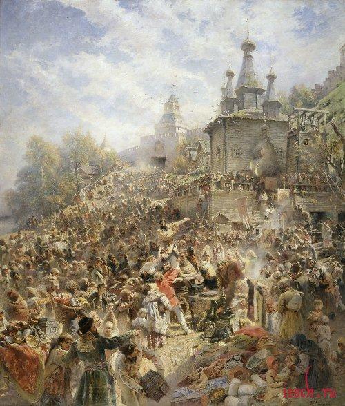 Картина К.Е. Маковского «Воззвание Минина к нижегородцам»