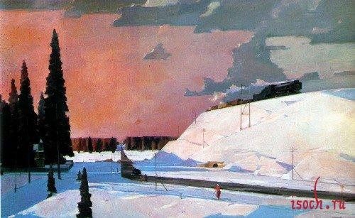 Картина Г.Г. Нисского «Февраль. Подмосковье»