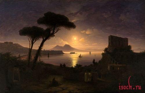 Картина И.К. Айвазовского «Неаполитанский залив в лунном свете»