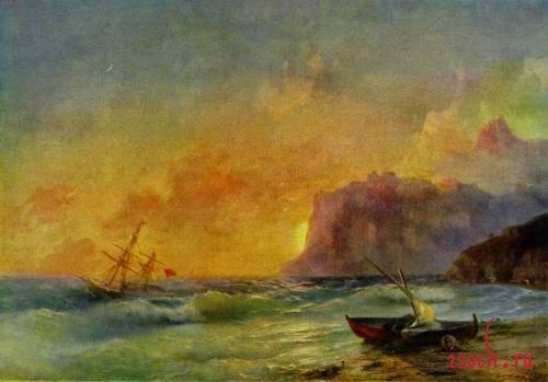 Картина И.К. Айвазовского «Море. Коктебельская бухта»
