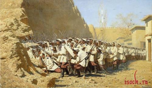 Картина В.В. Верещагина «У крепостной стены. Пусть войдут»