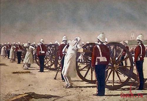 Картина В.В. Верещагина «Подавление индийского восстания англичанами»