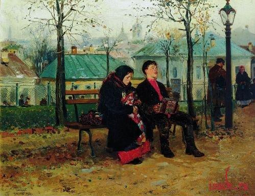 Картина В.Е. Маковского «На бульваре»