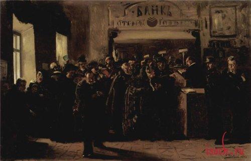 Картина В.Е. Маковского «Крах банка»
