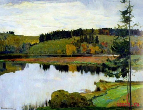 Картина М.В. Нестерова «Осенний пейзаж»