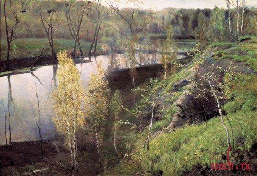 Картина И.С. Остроухова «Первая зелень»