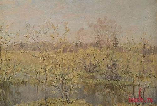 Картина Н.М. Ромадина «Первое цветение»