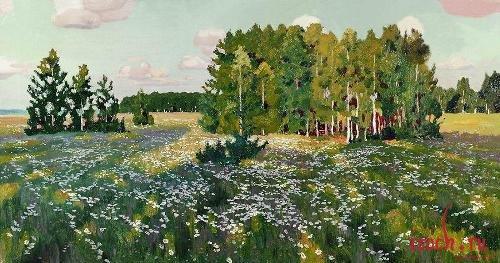 Картина А.А. Рылова «Цветистый луг»