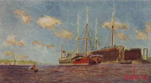 Картина И.И. Левитана «Свежий ветер. Волга»