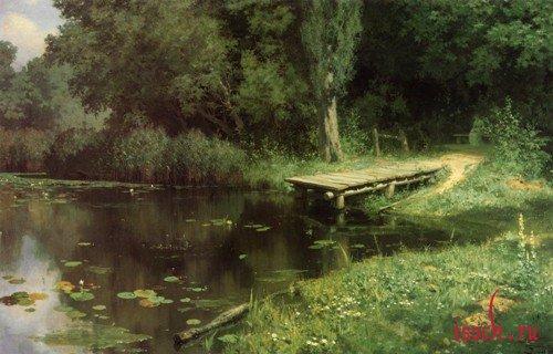Картина В.Д. Поленова «Заросший пруд»