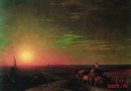 Картина И.К. Айвазовского «Обоз чумаков»