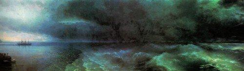 Картина И.К. Айвазовского «От штиля к урагану»