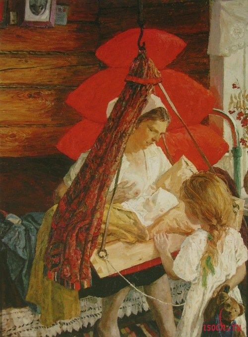 Картина А.А. Пластова «Мама»