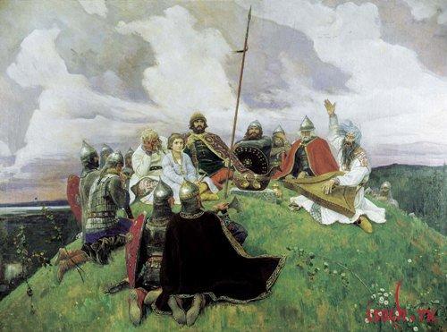 Картина В.М. Васнецова «Баян»