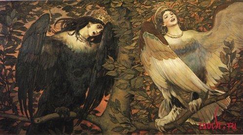 Картина В.М. Васнецова «Сирин и Алконост. Песнь радости и печали»