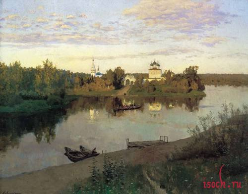 Картина И.И. Левитана «Вечерний звон»