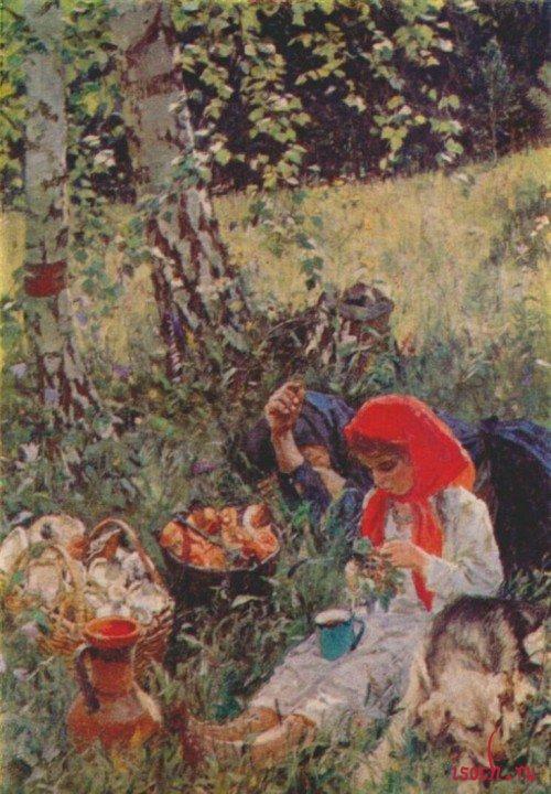 Картина А.А. Пластова «Летом»