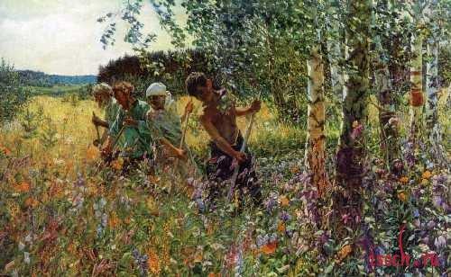 Картина А.А. Пластова «Сенокос»