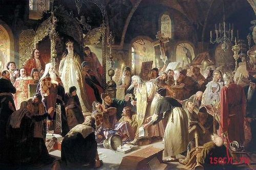 Картина В.Г. Перова «Никита Пустосвят. Спор о вере»