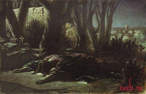 Картина В.Г. Перова «Христос в Гефсиманском саду»