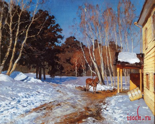 Картина И.И. Левитана «Март»