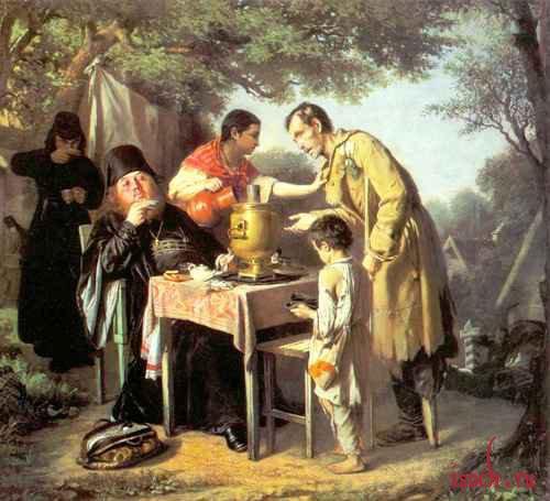 Картина В.Г. Перова «Чаепитие в Мытищах, близ Москвы»