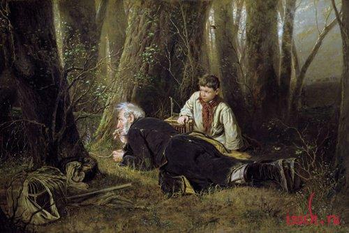 Картина В.Г. Перова «Птицелов»