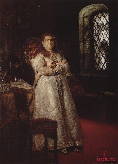 Картина И.Е. Репина «Царевна Софья»