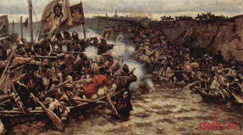 Картина В.И. Сурикова «Покорение Сибири Ермаком»