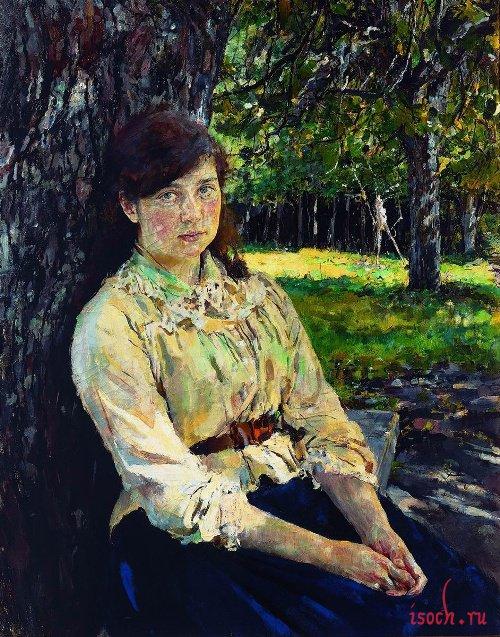 Картина В.А. Серова «Девушка, освещенная солнцем»