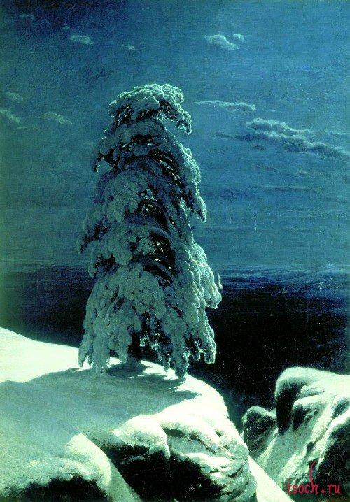 Картина И.И. Шишкина «На севере диком»