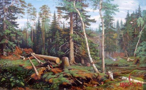Картина И.И. Шишкина «Рубка леса»