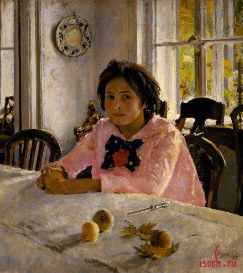 Картина В.А. Серова «Девочка с персиками»