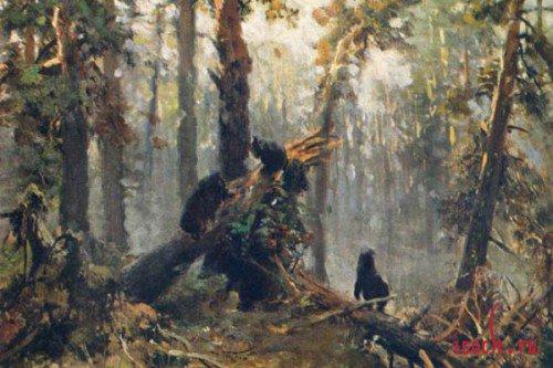 Картина И.И. Шишкина «Утро в сосновом лесу»