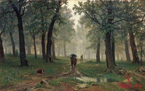 Картина И.И. Шишкина «Дождь в дубовом лесу»