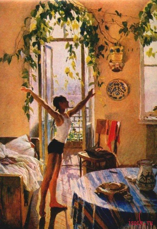 Картина Т.Н. Яблонской «Утро»