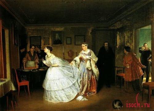 Картина П.А. Федотова «Сватовство майора»