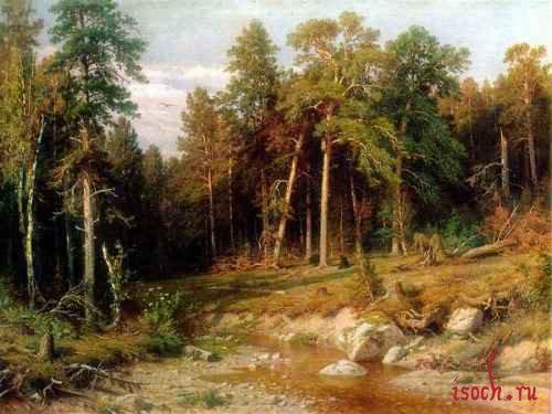 Картина И.И. Шишкина «Сосновый бор. Мачтовый лес в Вятской губернии»