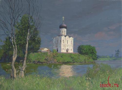 Картина С.А. Баулина «Храм Покрова на Нерли»
