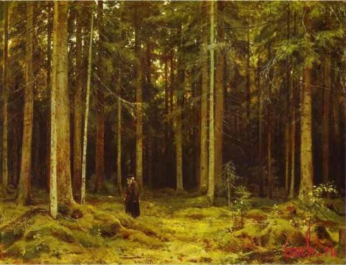 Картина И.И. Шишкина «В лесу графини Мордвиновой. Петергоф»